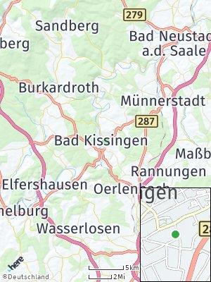 Here Map of Bad Kissingen
