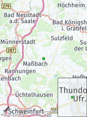Here Map of Thundorf in Unterfranken