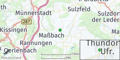 Google Map of Thundorf in Unterfranken