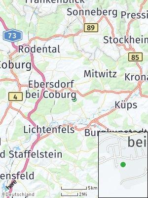 Here Map of Weidhausen bei Coburg