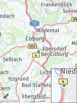 Here Map of Niederfüllbach