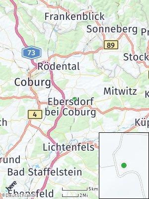 Here Map of Ebersdorf bei Coburg