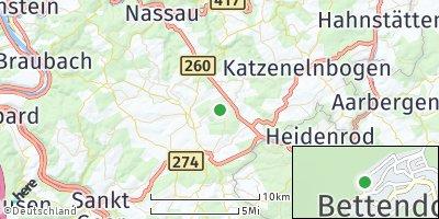 Google Map of Bettendorf bei Nastätten