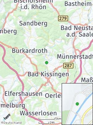 Here Map of Hausen bei Bad Kissingen
