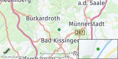 Google Map of Hausen bei Bad Kissingen