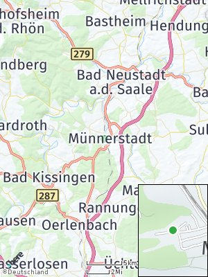 Here Map of Münnerstadt