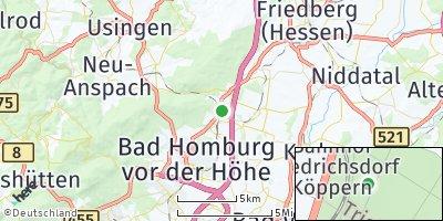 Google Map of Friedrichsdorf