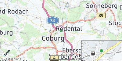 Google Map of Dörfles-Esbach