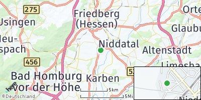 Google Map of Wöllstadt
