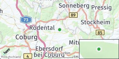 Google Map of Birkig bei Fürth am Berg