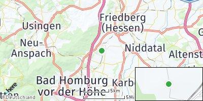 Google Map of Rosbach vor der Höhe