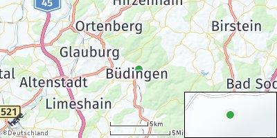 Google Map of Büdingen