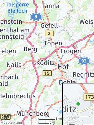Here Map of Köditz