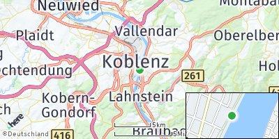 Google Map of Koblenz am Rhein