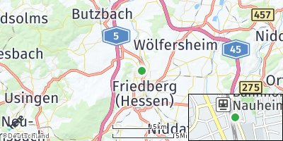 Google Map of Bad Nauheim