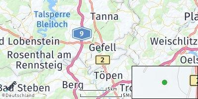 Google Map of Gefell bei Schleiz