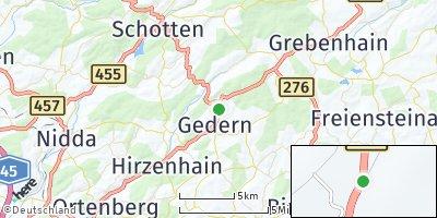 Google Map of Gedern
