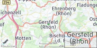 Google Map of Gersfeld