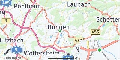 Google Map of Hungen