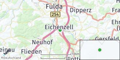 Google Map of Eichenzell