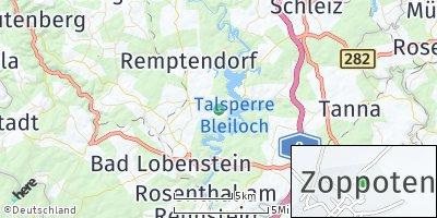 Google Map of Saalburg-Ebersdorf