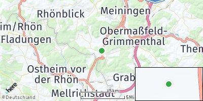 Google Map of Henneberg bei Meiningen