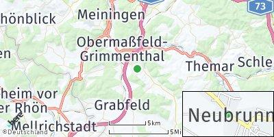 Google Map of Neubrunn bei Meiningen