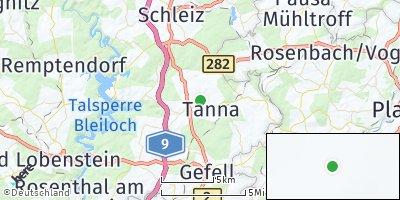 Google Map of Tanna bei Schleiz