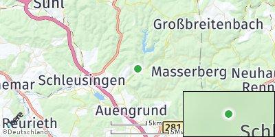 Google Map of Schleusegrund