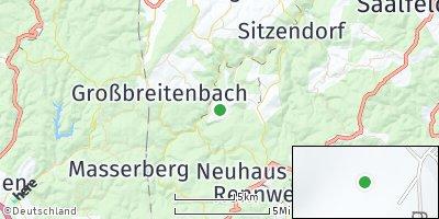 Google Map of Meuselbach-Schwarzmühle