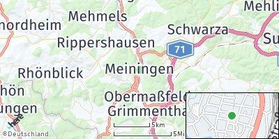 Google Map of Meiningen