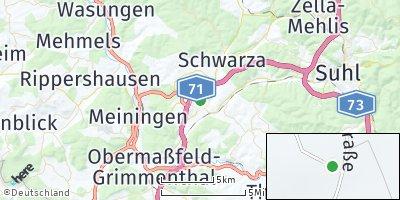 Google Map of Rohr bei Suhl