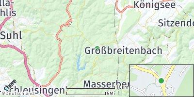 Google Map of Neustadt am Rennsteig