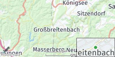 Google Map of Großbreitenbach
