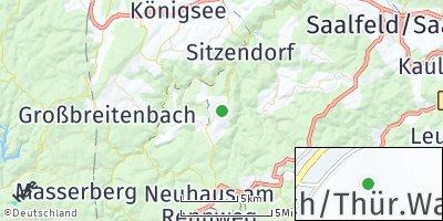 Google Map of Oberweißbach