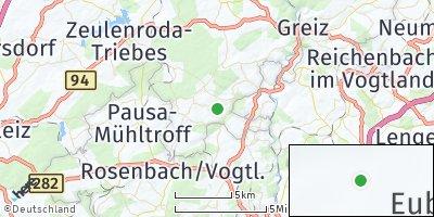 Google Map of Vogtländisches Oberland