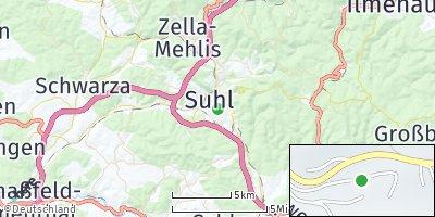 Google Map of Suhl