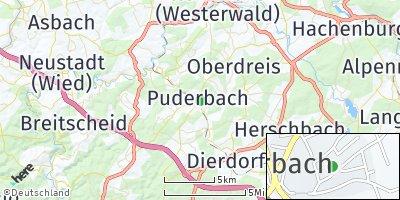 Google Map of Puderbach
