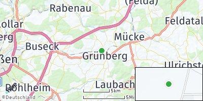 Google Map of Grünberg / Hessen