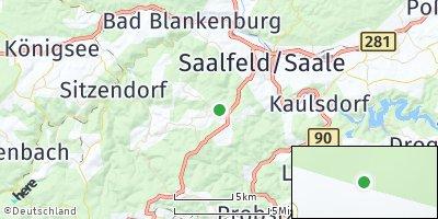 Google Map of Saalfelder Höhe