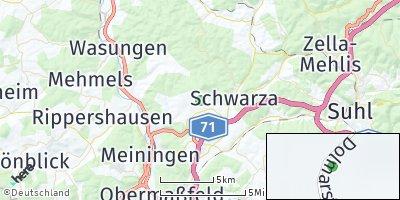 Google Map of Kühndorf bei Suhl