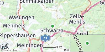 Google Map of Schwarza bei Suhl