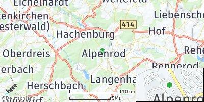 Google Map of Alpenrod
