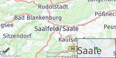 Google Map of Saalfeld / Saale
