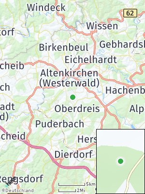 Here Map of Rodenbach bei Puderbach