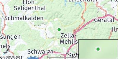 Google Map of Bermbach bei Schmalkalden