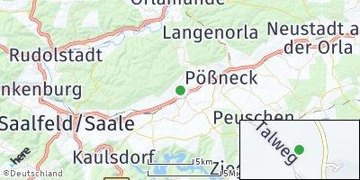 Google Map of Krölpa bei Pößneck