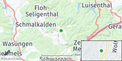 Google Map of Kurort Steinbach-Hallenberg