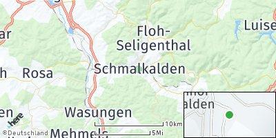 Google Map of Schmalkalden