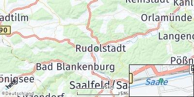 Google Map of Rudolstadt